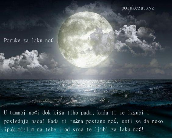 romantične poruke za lak noć